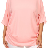Plus Size Pink Relaxed Fit Top