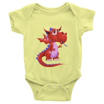 Draco Red Infant short sleeve one-piece