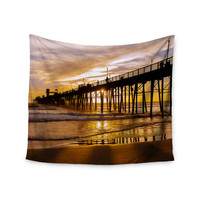 "Juan Paolo ""The Golden Hour"" Gold Orange Wall Tapestry"