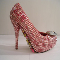 Pink Rhinestone Hello Kitty/ Juicy Couture Heels by uniquezaccess