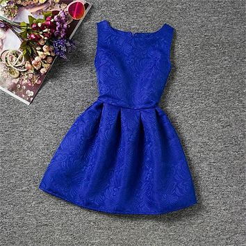Little Princess Girls Dress Summer Teenagers Dresses for Girls Designer Party Wear Dress Children Clothing Kids Clothes