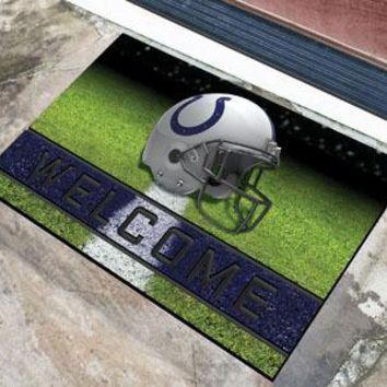 Indianapolis Colts Door Mat 18x30 Welcome Crumb Rubber