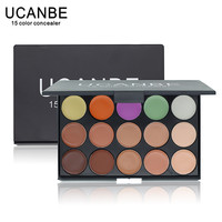 UCANBE Brand 3 Different Colors Professional 15 Color Concealer Palette