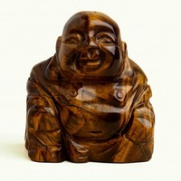 "2"" Tiger's Eye Stone Buddha Carving"