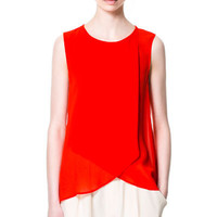 TOP WITH FRILLED FRONT - Tops - Woman | ZARA United States
