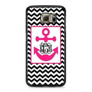 Monogram Anchor Wallpaper Samsung Galaxy S6 Case