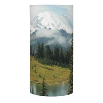 Mountain Portrait Photo Flameless Candle