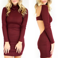 Vanderbilt Burgundy Sweater Dress