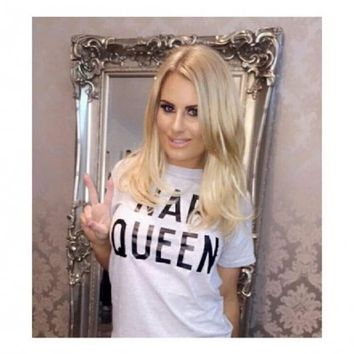 LOVE Nap Queen T-Shirt In Grey As Seen On Danielle Armstrong - In Love With Fashion