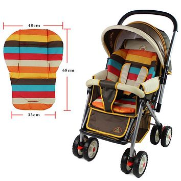 Baby Stroller Seat Cushion Car Seat Cushion Cotton Mat Waterproof Rainbow Pram For 0-36 months