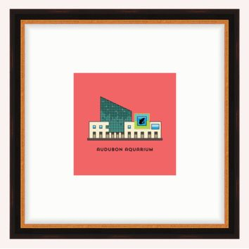Aquarium Framed Architecture Print