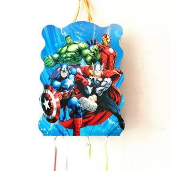 1SET AVENGERS THEME PINATA BABY SHOWER KIDS BIRTHDAY PARTY DECORATION AVENGERS PINATA BIRTHDAY PARTY FUNNY GAME