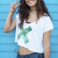 Water xx - White Crop tee