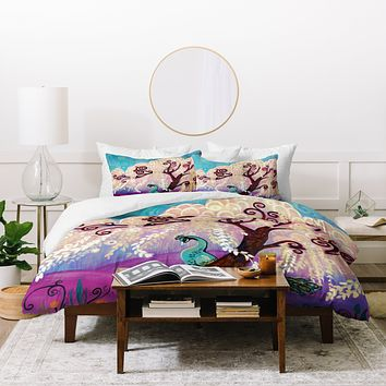 Natasha Wescoat Willow White Duvet Cover