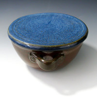 Bowl with Lid & Handles - Small Covered Casserole Dish - Handmade Pottery Bowl