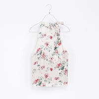 FLORAL TOP WITH BOW - Shirts - TRF | ZARA United States
