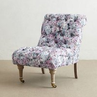 Abstract Print Orianna Slipper Chair by Anthropologie Multi One Size Wall Decor