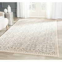 Safavieh Handmade Cambridge Moroccan Silver/ Ivory Rug (5' x 8') | Overstock.com Shopping - The Best Deals on 5x8 - 6x9 Rugs