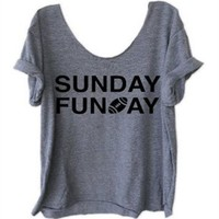 """Sunday Funday"" Football Tee"