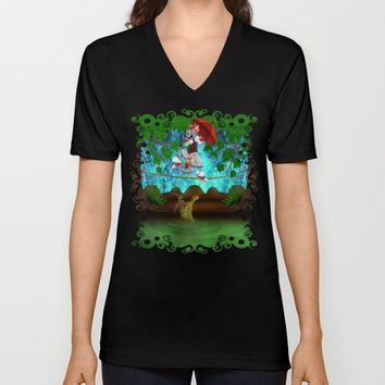 Haunted Mansion The cat, mouse and crocodile iPhone 4 4s 5 5s 5c, ipod, ipad, pillow case and tshirt Unisex V-Neck by Three Second