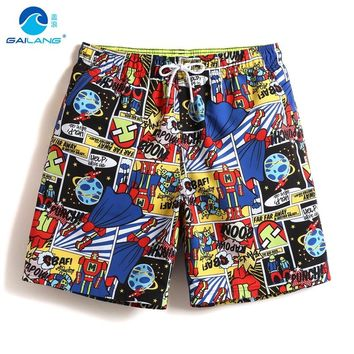 Men's beach shorts swimming bathing suit plavky swimwear athletic surf liner swimsuit board shorts joggers loose praia mesh
