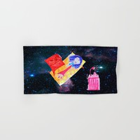 Τhe Universe is our Ηome | Kids Room up to the Space | Cosmos  Hand & Bath Towel by Azima