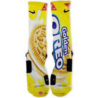 Golden Oreo Cookies Custom Nike Elite Socks