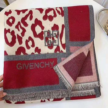GIVENCHY Winter Popular Women Stylish Camouflage Cashmere Cape Scarf Scarves Shawl Accessories