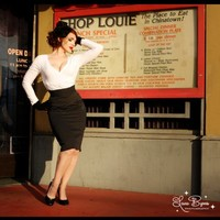 Pinup Couture Pencil Skirt in Black Pin Dot - Separates - Clothing | Pinup Girl Clothing