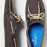 AEO Men's Canvas Boat Shoe (Brown)