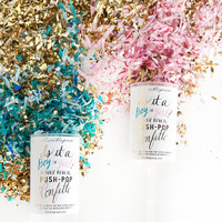 Gender Reveal Push-Pop Confetti