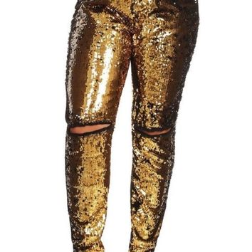Bagel Jeans with Sequins