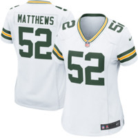 Clay Matthews Green Bay Packers Nike Women's Game Jersey – White