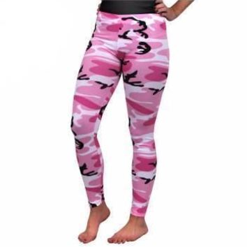 Rothco Womens Pink Camo Leggings