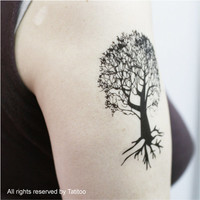 Tree temporary tattoo, Temporary Tattoo, T199