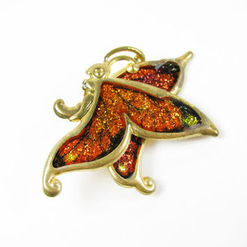 Vintage Butterfly Brooch - Broche Papillon.