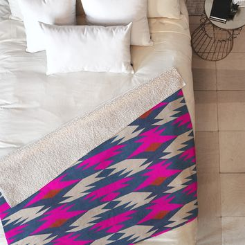 Holli Zollinger Diamond Kilim Fleece Throw Blanket