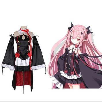 Krul Tepes Cosplay Anime Owari no Seraph Seraph of The End Third Ancestor Vampire Black Sexy Costume Wig  H001 Macchar Cosplay Catalogue