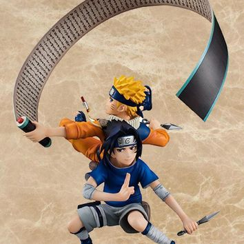 Naruto Sasauke ninja 18CM Anime  Painted Figure G.E.M Series Uzumaki  & Uchiha Sasuke Figure Collectible Model Toy AT_81_8