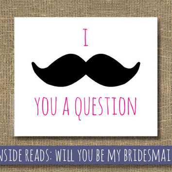 Will You Be My Bridesmaid  Ask Bridesmaid  I by RockCandieDesigns