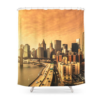 Society6 Nyc Skyline Shower Curtains
