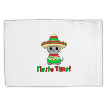 Fiesta Time - Cute Sombrero Cat Standard Size Polyester Pillow Case by TooLoud