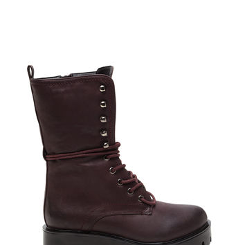 Daria Faux Leather Lug Boots