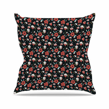 "Mayacoa Studio ""Floral Field"" Multicolor Floral Outdoor Throw Pillow"
