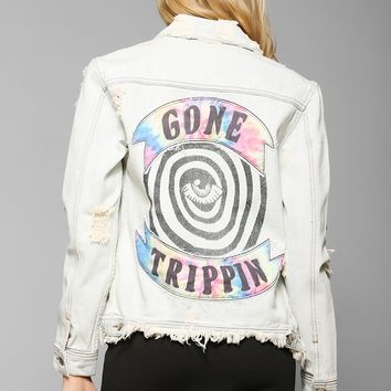 UNIF Gone Trippin Denim Jacket - Urban Outfitters