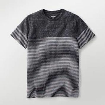 Men's Standard Fit Placed Short Sleeve Crew T-Shirt - Goodfellow & Co™ Charcoal