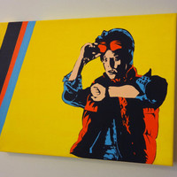 Marty McFly Back to the Future  Pop Art Acrylic by imDaniel