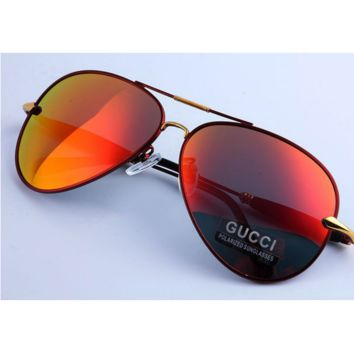 GUCCI Sunglasses Men Vintage Fashion Metal Frame Mirror Sun Glasses Unique Flat Sunglasses G-YJ-LHSTCYJC