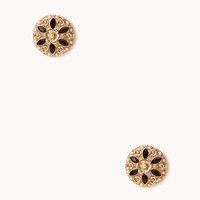 Heirloom Floral Studs