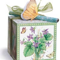 Garden in Bloom Note Paper Block with Pen
